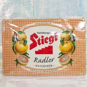 💙2/$20💙 STIEGL Grapefruit Radler Tin Sign